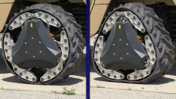 DARPA's New Tires Become Triangular Tank Tracks in Two Seconds