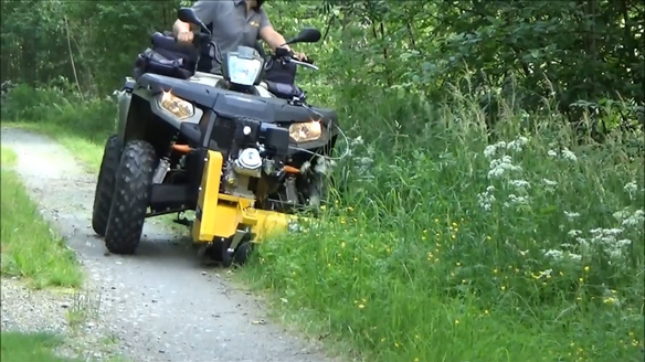 Rammy Flail Mower 120 Allows You to Mow With Your ATV