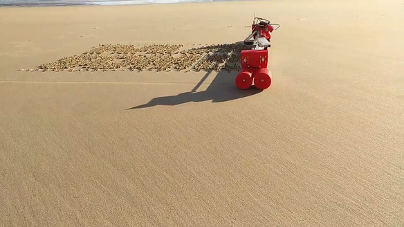 Robot Can Write Messages in Sand