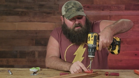 How to Make a Shotgun Shell Fishing Rod Holder