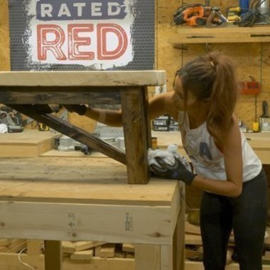 Red Hot Building: Rough Top Bench
